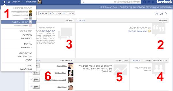 מדריך לממשק הניהול בפייסבוק