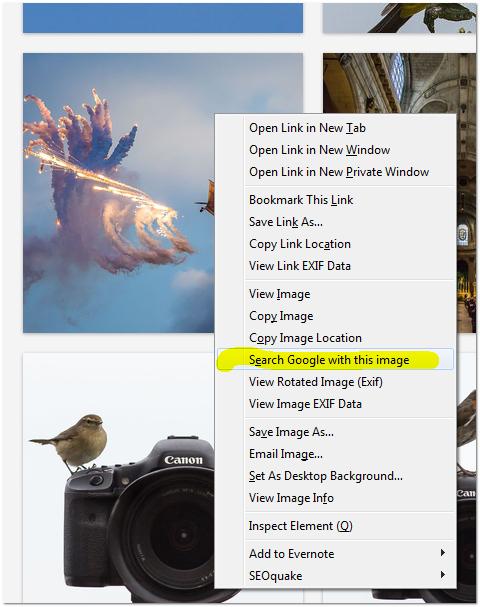 מציאת תמונות דומות באמצעות תוסף גוגל