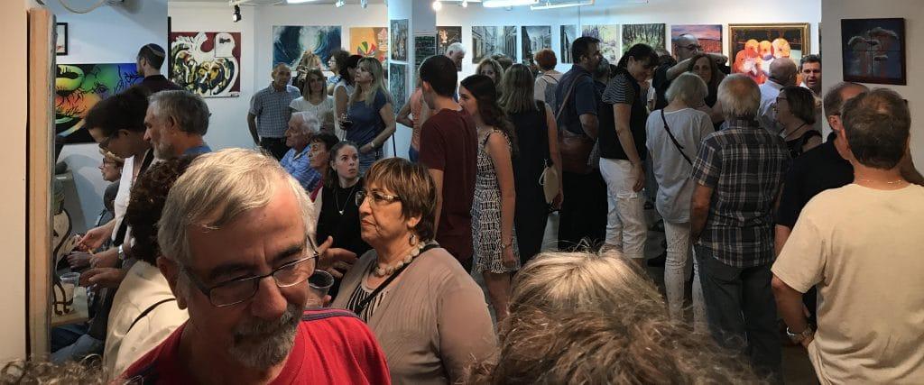 ערב הפתיחה של התערוכה יומן מסע בגלריית תירוש