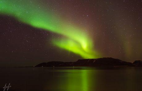 הזוהר הצפוני באיסלנד